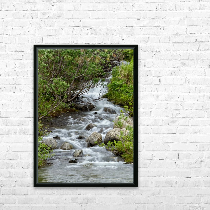 Beautiful Waterfall Picture in Alaska HD Sublimation Metal print with Decorating Float Frame (BOX)
