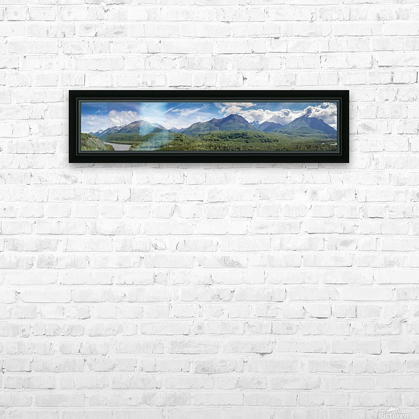 Photos Alaska Mountain Panorama HD Sublimation Metal print with Decorating Float Frame (BOX)