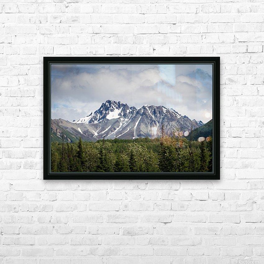 Alaska Mountain Range HD Sublimation Metal print with Decorating Float Frame (BOX)