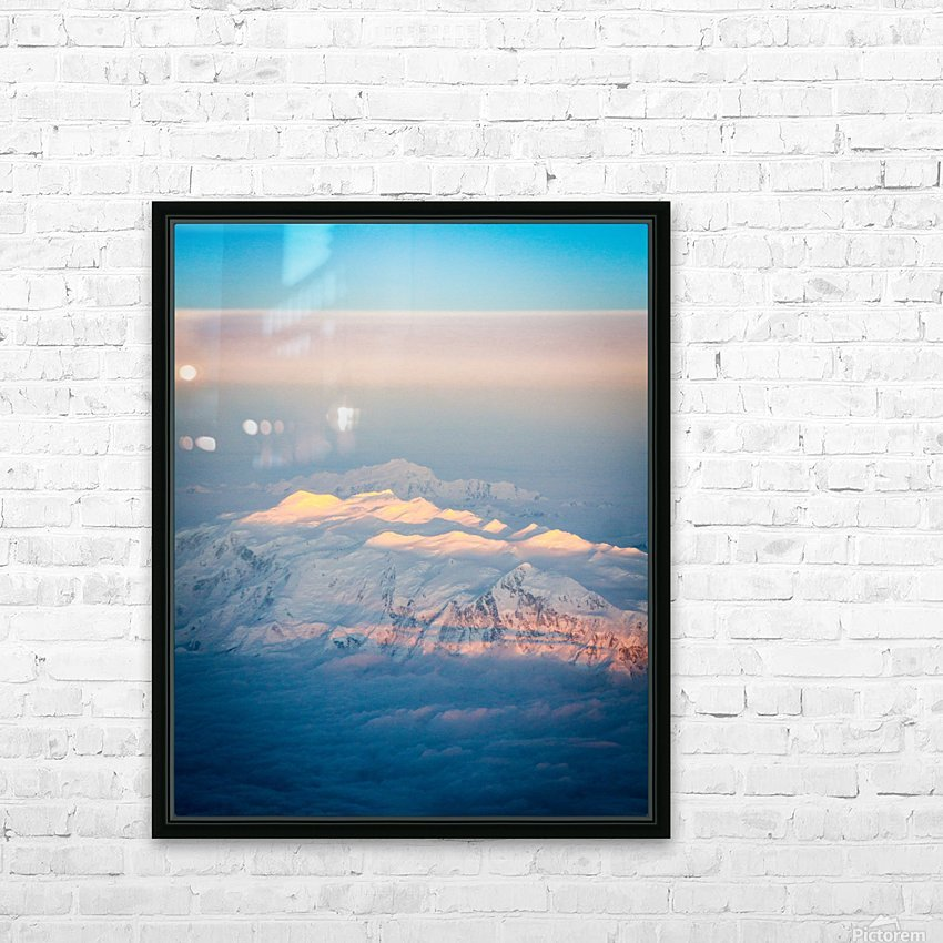 Photos Alaska Mountains HD Sublimation Metal print with Decorating Float Frame (BOX)