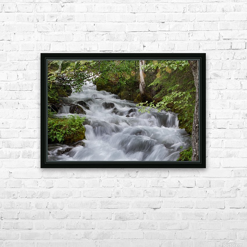 Beautiful Waterfall Photograph HD Sublimation Metal print with Decorating Float Frame (BOX)