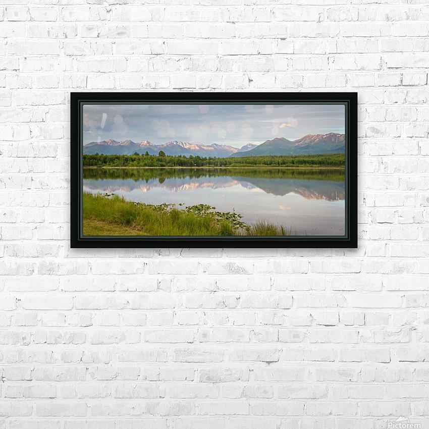 Photos Alaska Mountain HD sublimation métal imprimé avec décoration flotteur cadre (boîte)