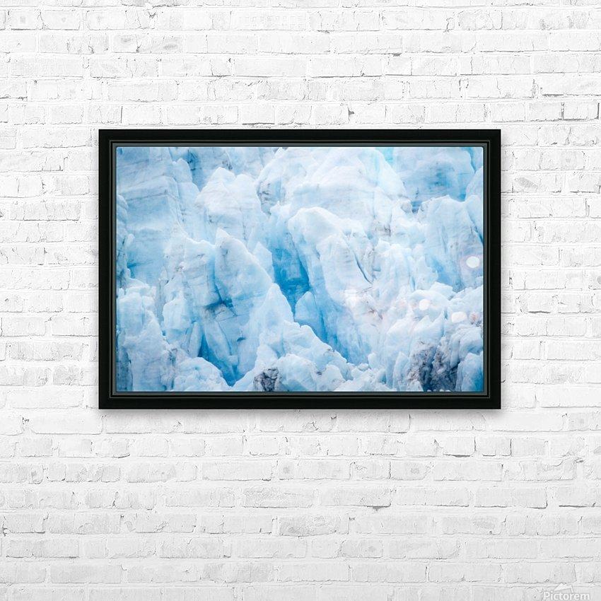 Alaska Gifts - Glacier Photographs HD Sublimation Metal print with Decorating Float Frame (BOX)