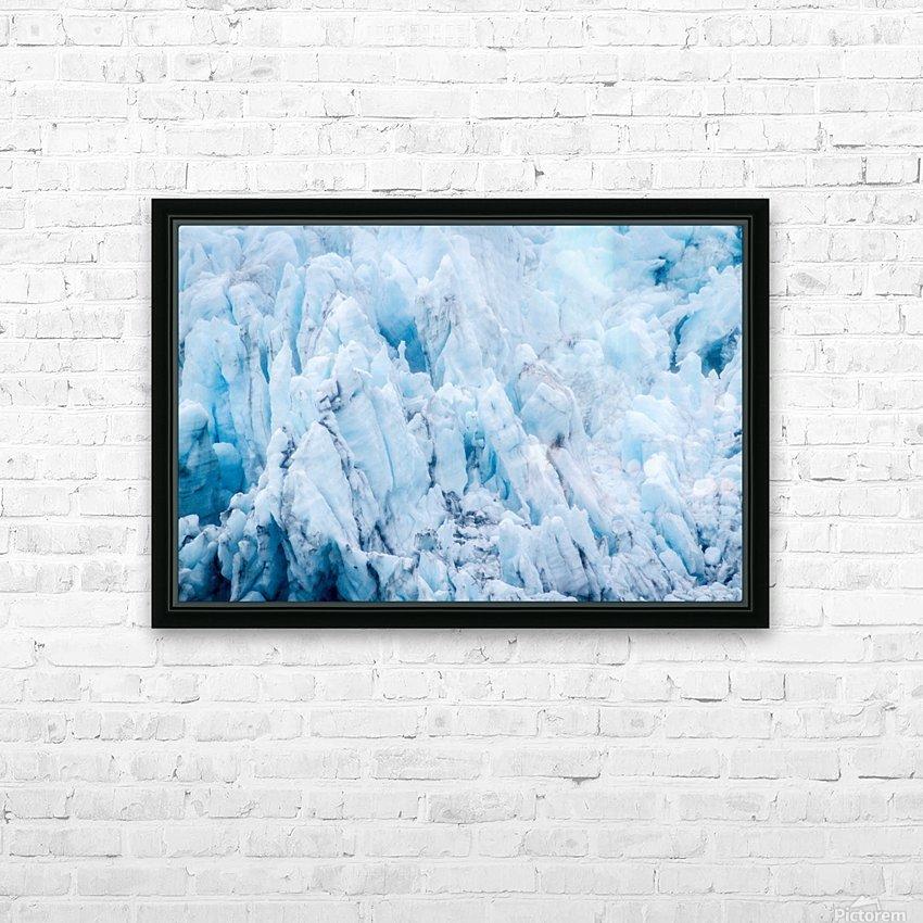 Alaska Gifts - Glacier Photographs HD sublimation métal imprimé avec décoration flotteur cadre (boîte)
