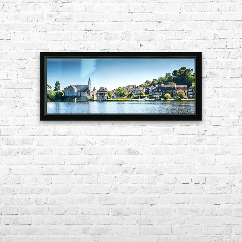 Beaulieu-sur-Dordogne HD Sublimation Metal print with Decorating Float Frame (BOX)