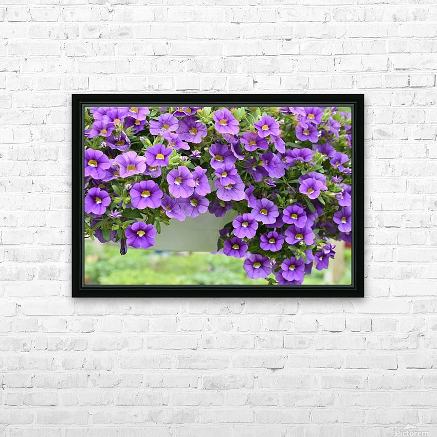 Beautiful Purple Flowers Photograph HD Sublimation Metal print with Decorating Float Frame (BOX)