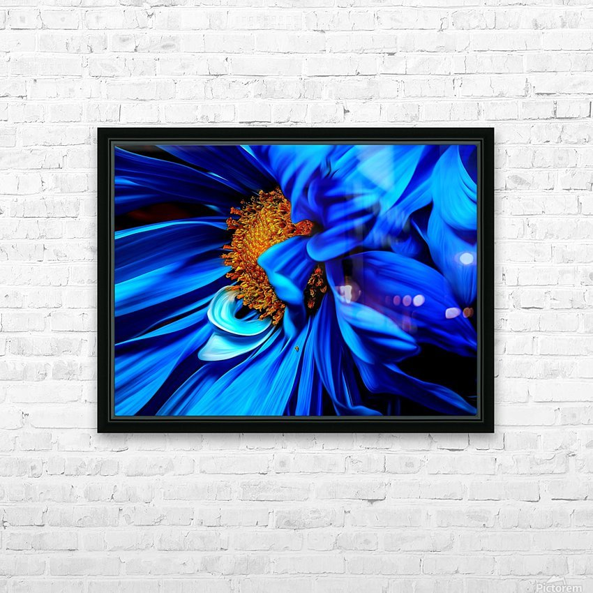 Beautiful Blue Flower_OSG HD Sublimation Metal print with Decorating Float Frame (BOX)