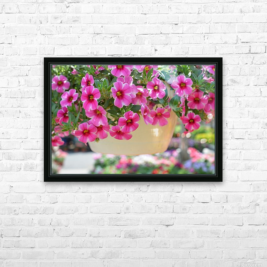 Beautiful Pink Flowers Photograph HD Sublimation Metal print with Decorating Float Frame (BOX)