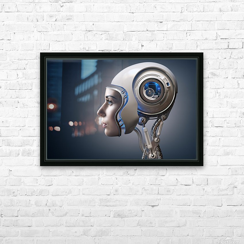 Next Generation Cyborg HD Sublimation Metal print with Decorating Float Frame (BOX)