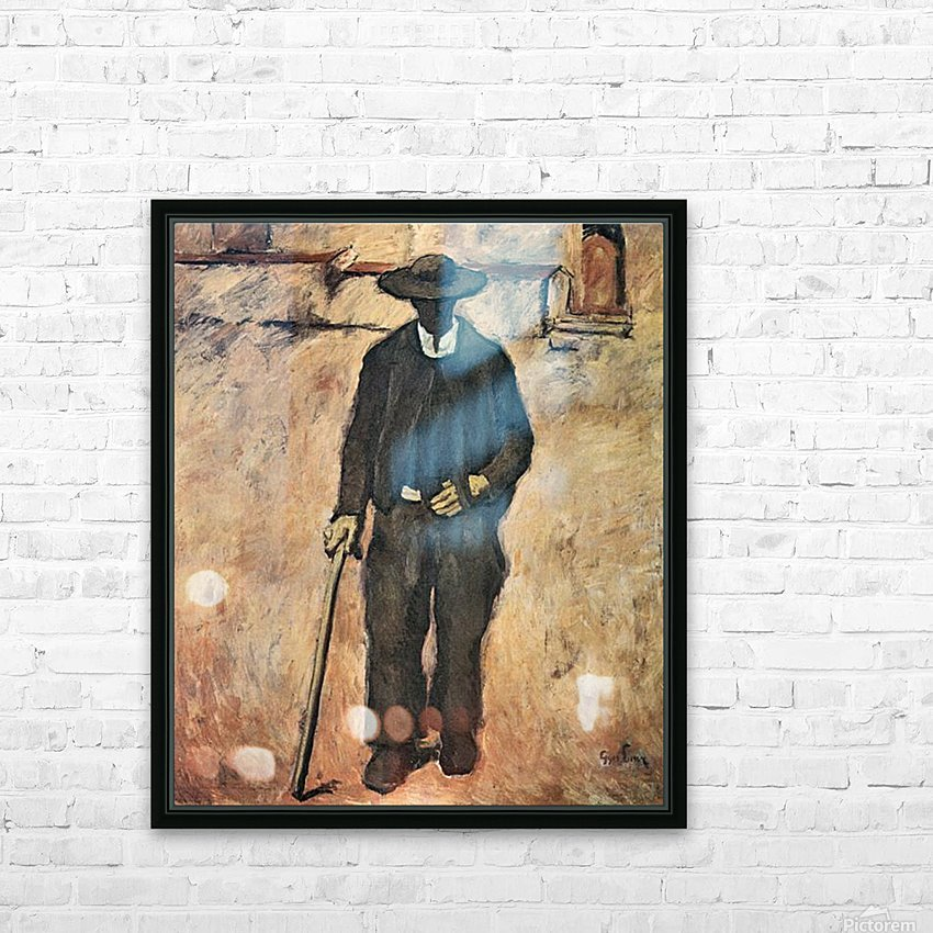 Blind by Albin Egger-Lienz HD Sublimation Metal print with Decorating Float Frame (BOX)