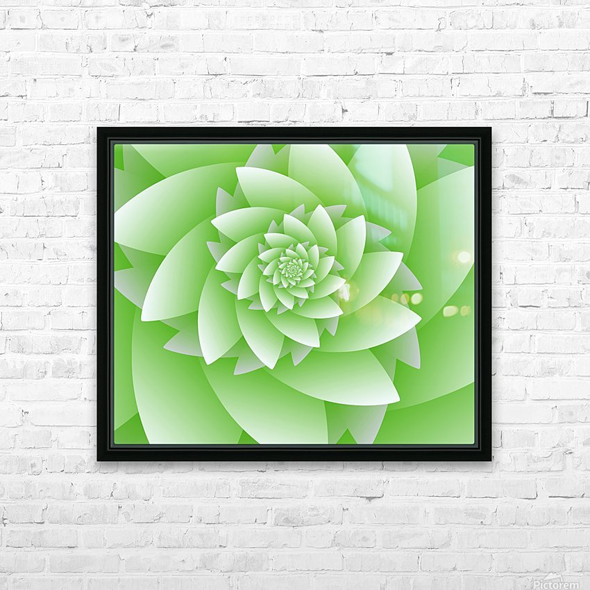Greeny Floral HD Sublimation Metal print with Decorating Float Frame (BOX)