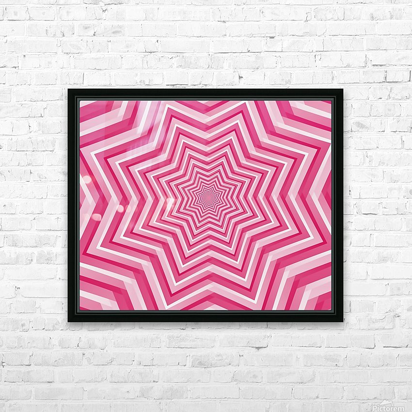 Pink Geometric Design Art HD Sublimation Metal print with Decorating Float Frame (BOX)