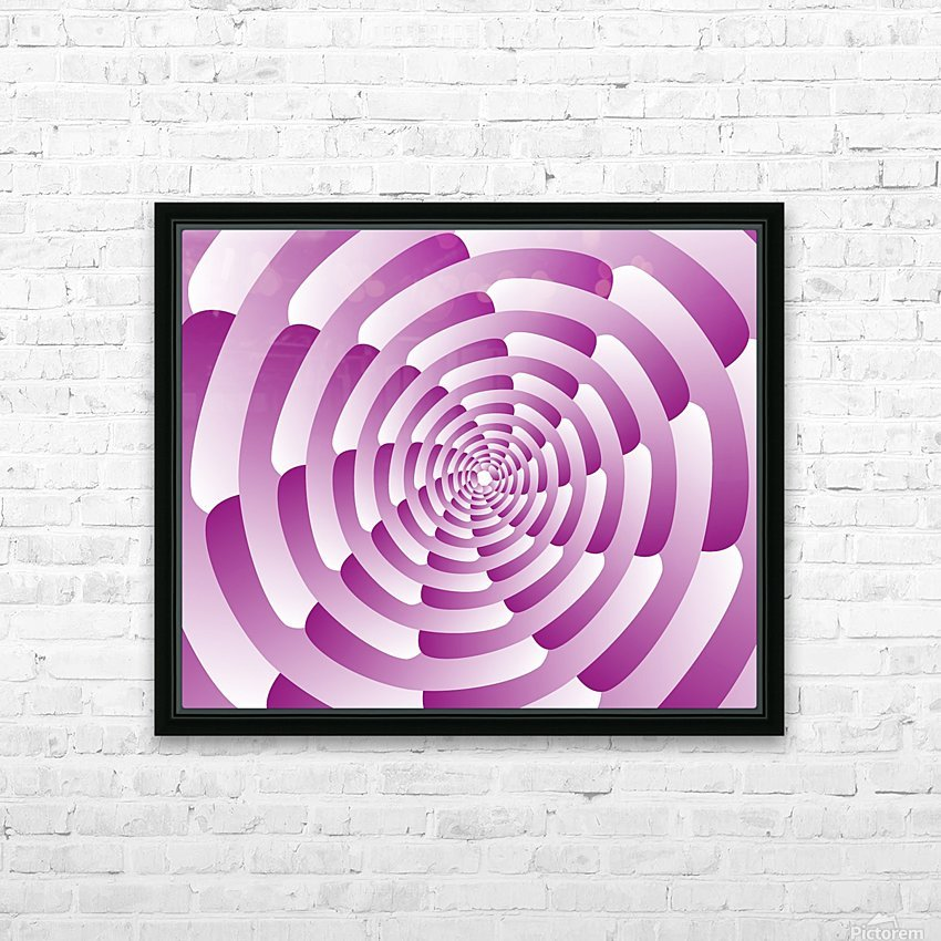 Abstract Pink Spiral Art  HD Sublimation Metal print with Decorating Float Frame (BOX)