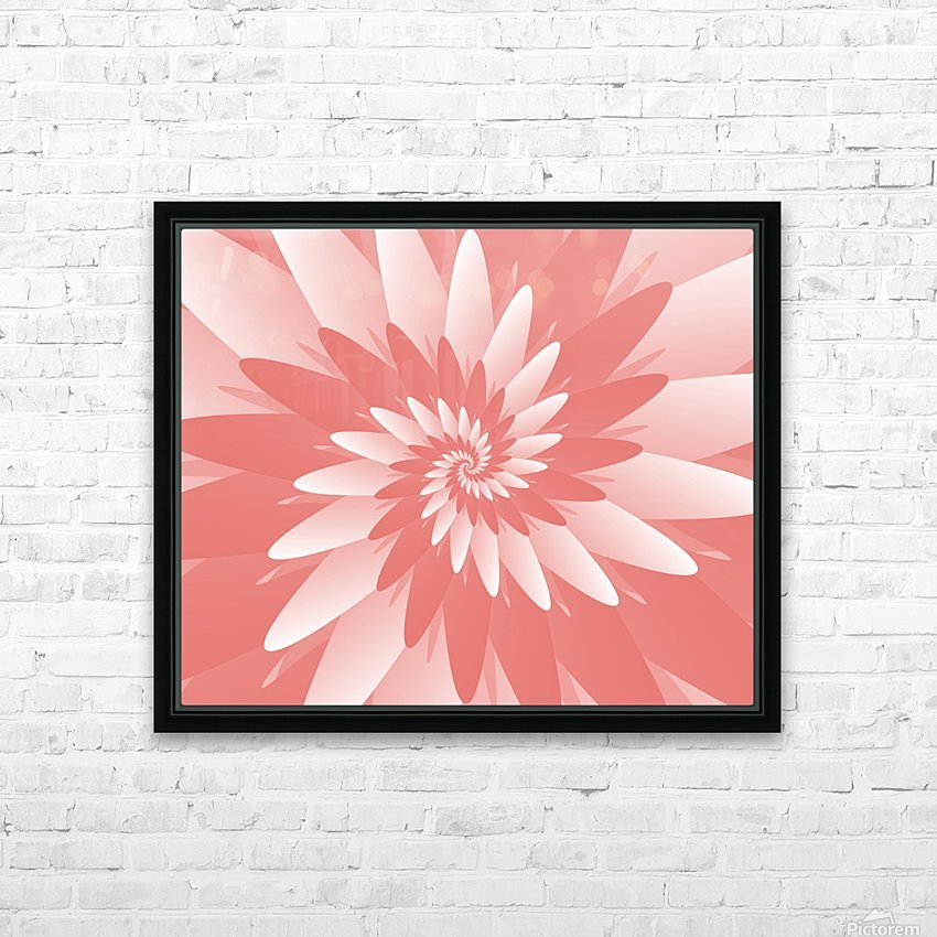 Spiral Flower Pattern Art HD Sublimation Metal print with Decorating Float Frame (BOX)
