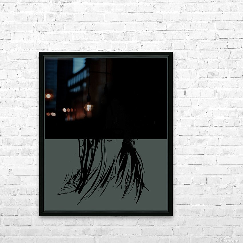 Abstract Girl 2 HD Sublimation Metal print with Decorating Float Frame (BOX)