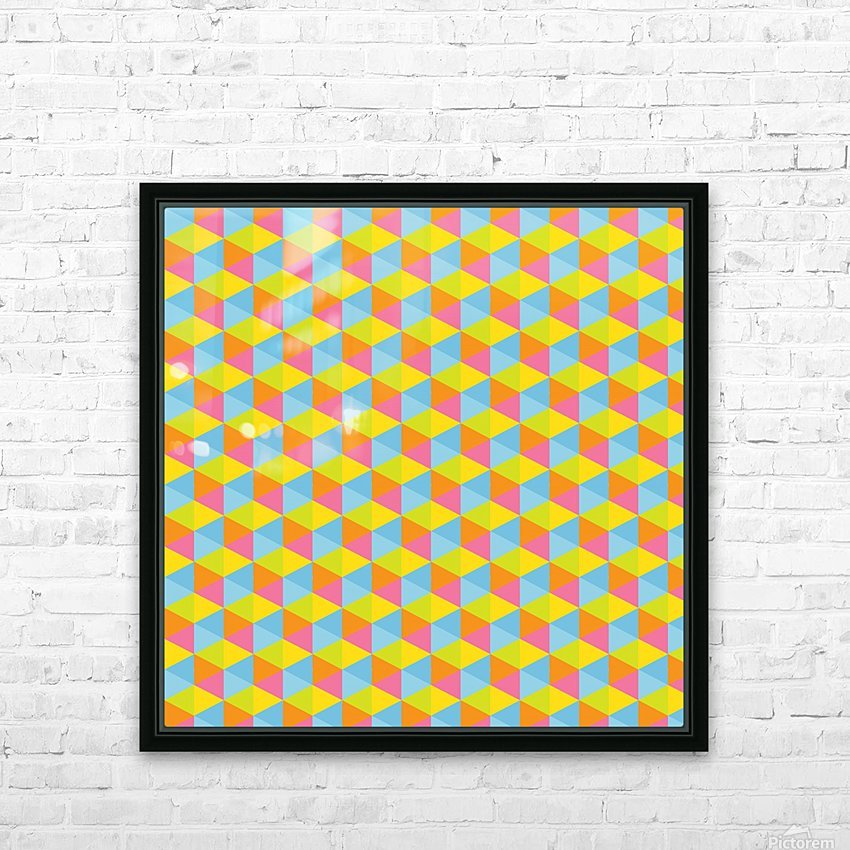 Hexagon Seamless Pattern Artwork HD Sublimation Metal print with Decorating Float Frame (BOX)