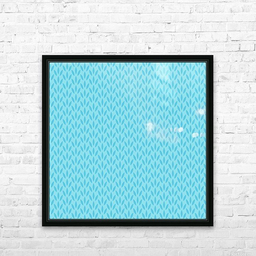 Blue Leaf pattern Art HD Sublimation Metal print with Decorating Float Frame (BOX)