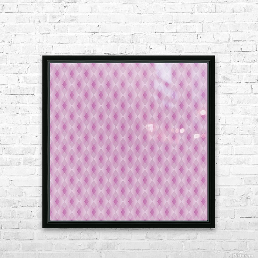 Diamond Shape Pattern Artwork HD Sublimation Metal print with Decorating Float Frame (BOX)