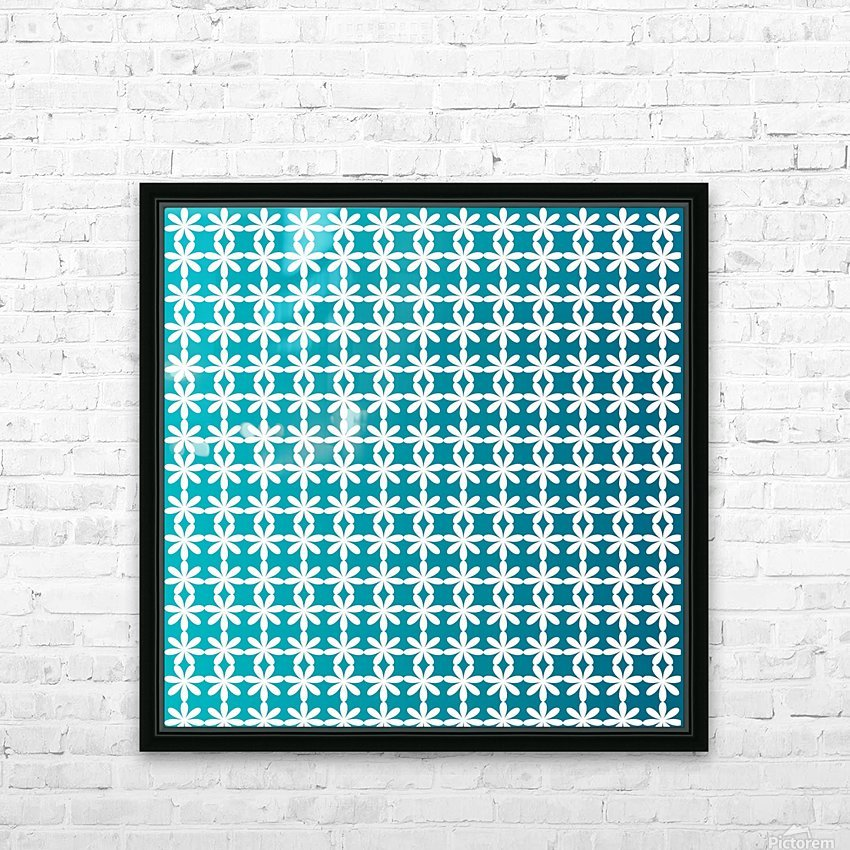 Floral Gradient Seamless Pattern Artwork HD Sublimation Metal print with Decorating Float Frame (BOX)