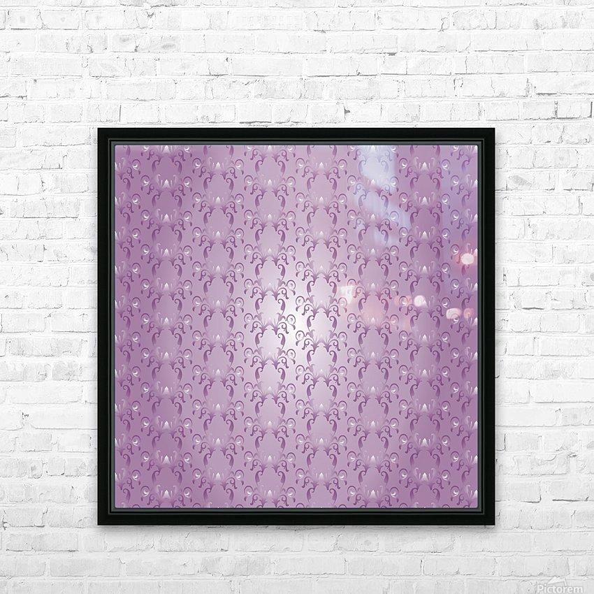 Ornamental Pink Artwork HD Sublimation Metal print with Decorating Float Frame (BOX)