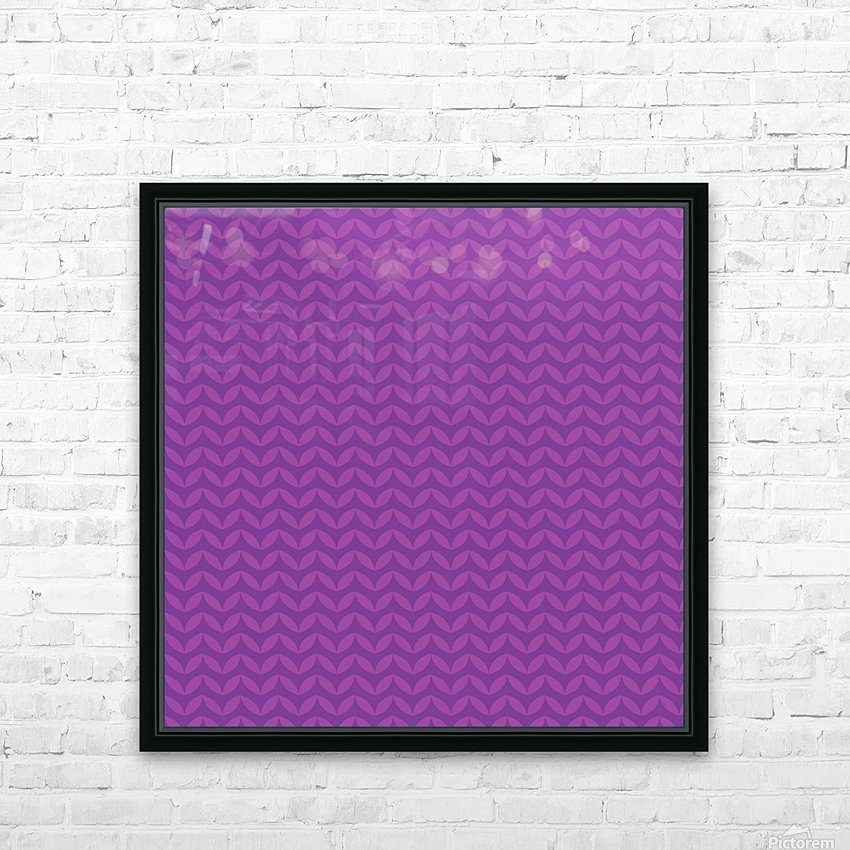 Wavy Seamless Pattern Art HD Sublimation Metal print with Decorating Float Frame (BOX)