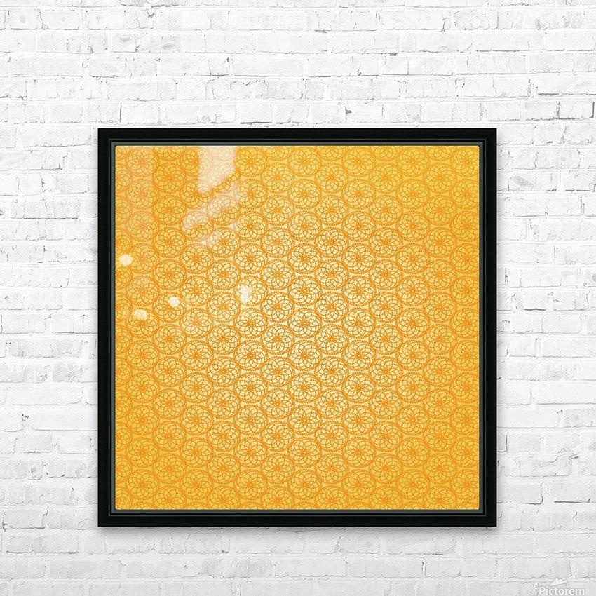 Orange Seamless Pattern Art HD Sublimation Metal print with Decorating Float Frame (BOX)