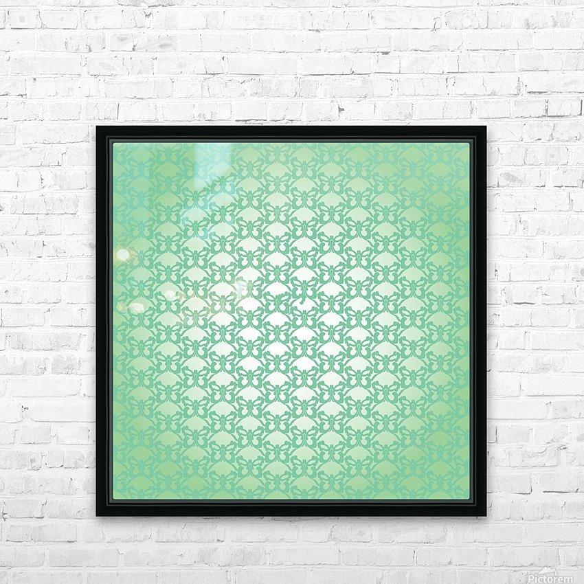 Ornamental Art Pattern Artwork HD Sublimation Metal print with Decorating Float Frame (BOX)