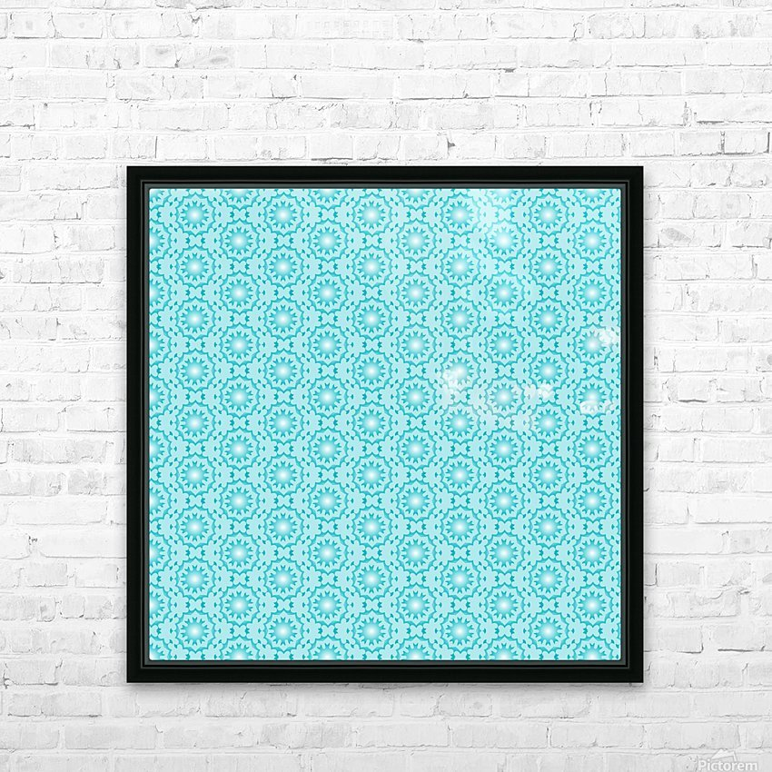 Islamic Blue Art  HD Sublimation Metal print with Decorating Float Frame (BOX)