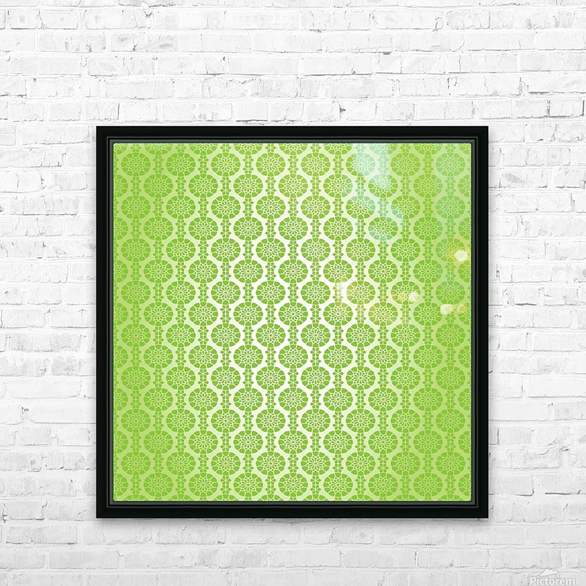 Islamic Green Art HD Sublimation Metal print with Decorating Float Frame (BOX)