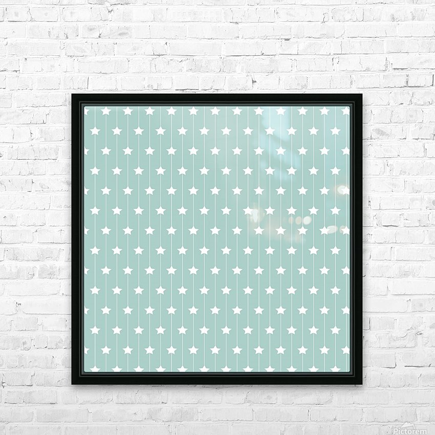 Star Seamless Pattern Art HD Sublimation Metal print with Decorating Float Frame (BOX)