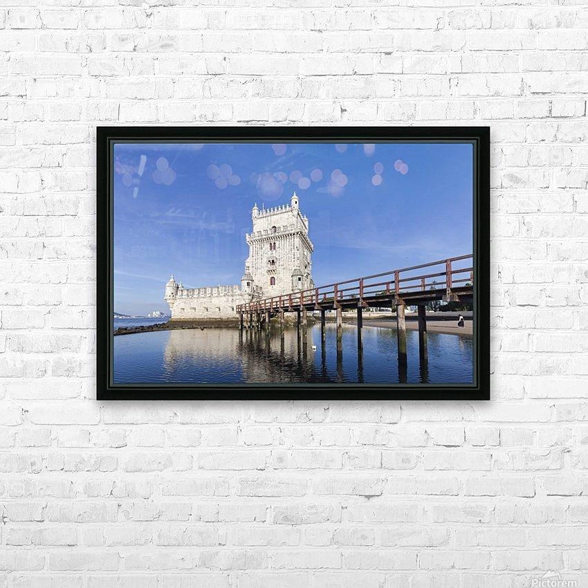 Torre de Belem HD Sublimation Metal print with Decorating Float Frame (BOX)