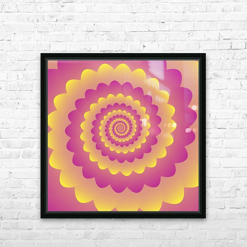 Indian Rangoli Art HD Sublimation Metal print with Decorating Float Frame (BOX)