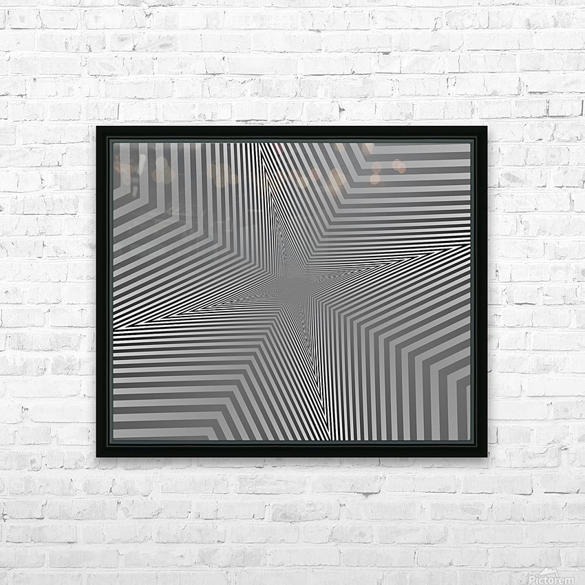 Crazy Loop HD Sublimation Metal print with Decorating Float Frame (BOX)