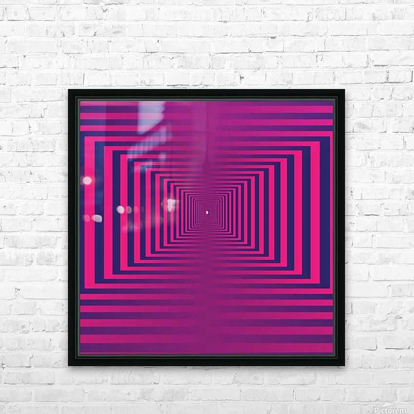Retro HD Sublimation Metal print with Decorating Float Frame (BOX)