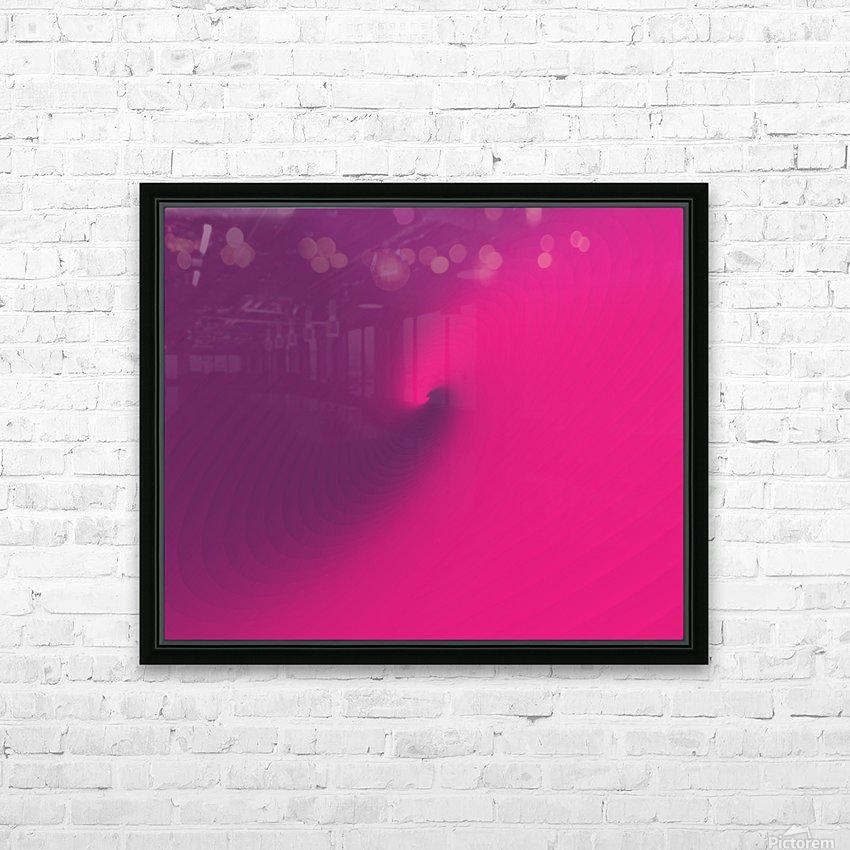 Abstract Purple & Blue Art HD Sublimation Metal print with Decorating Float Frame (BOX)