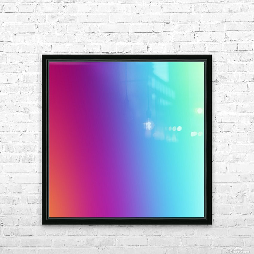 Multicolor Background HD Sublimation Metal print with Decorating Float Frame (BOX)