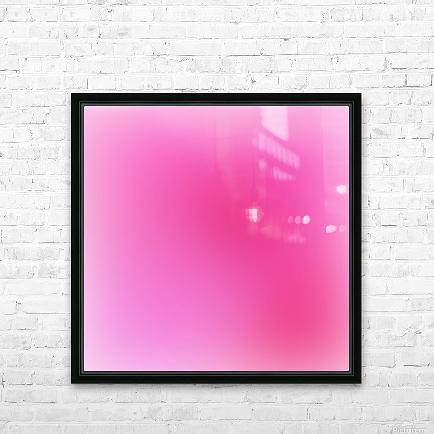 Rose Gradient Background HD Sublimation Metal print with Decorating Float Frame (BOX)