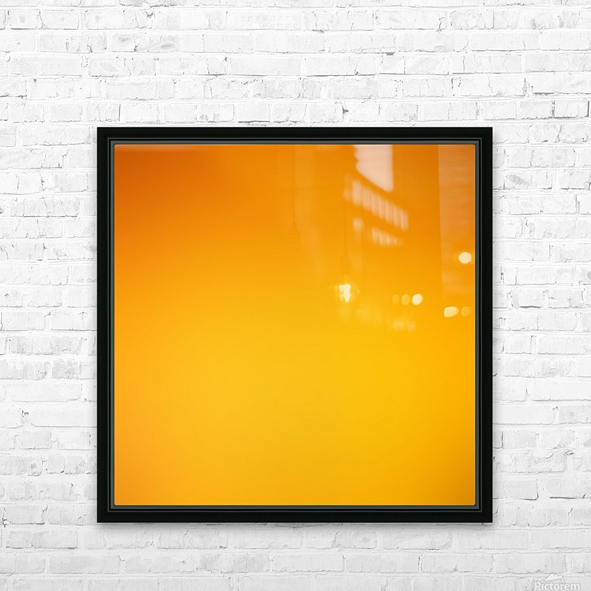 Orange Gradient Background HD Sublimation Metal print with Decorating Float Frame (BOX)