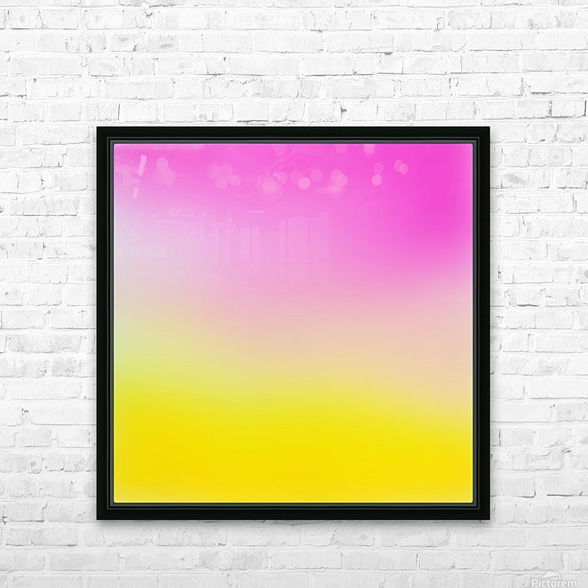 pink to yellow Gradient Background HD Sublimation Metal print with Decorating Float Frame (BOX)