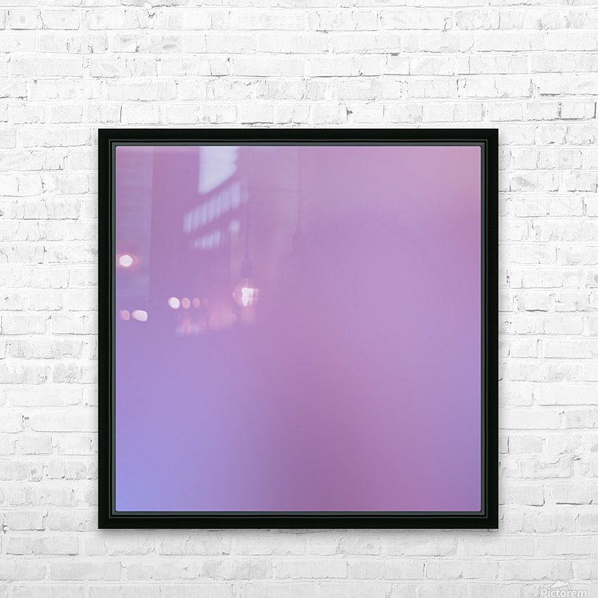 Pink Blurred Background HD Sublimation Metal print with Decorating Float Frame (BOX)