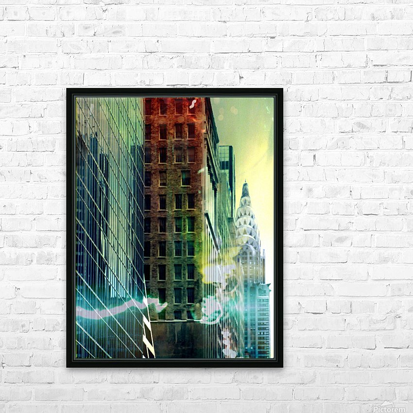 New York Street HD Sublimation Metal print with Decorating Float Frame (BOX)
