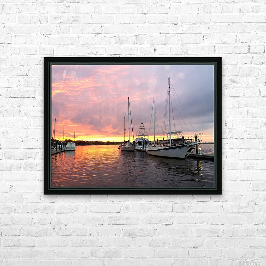 Sunset Sailboat 2 HD Sublimation Metal print with Decorating Float Frame (BOX)