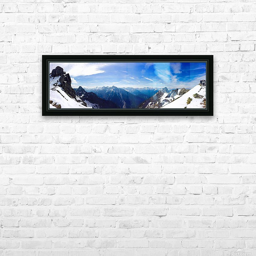 Mountain Clarity HD Sublimation Metal print with Decorating Float Frame (BOX)
