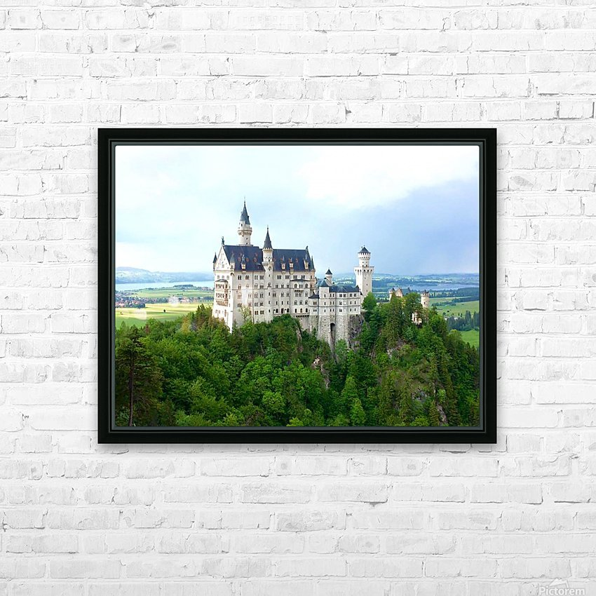 Nueschwanstein Castle HD Sublimation Metal print with Decorating Float Frame (BOX)