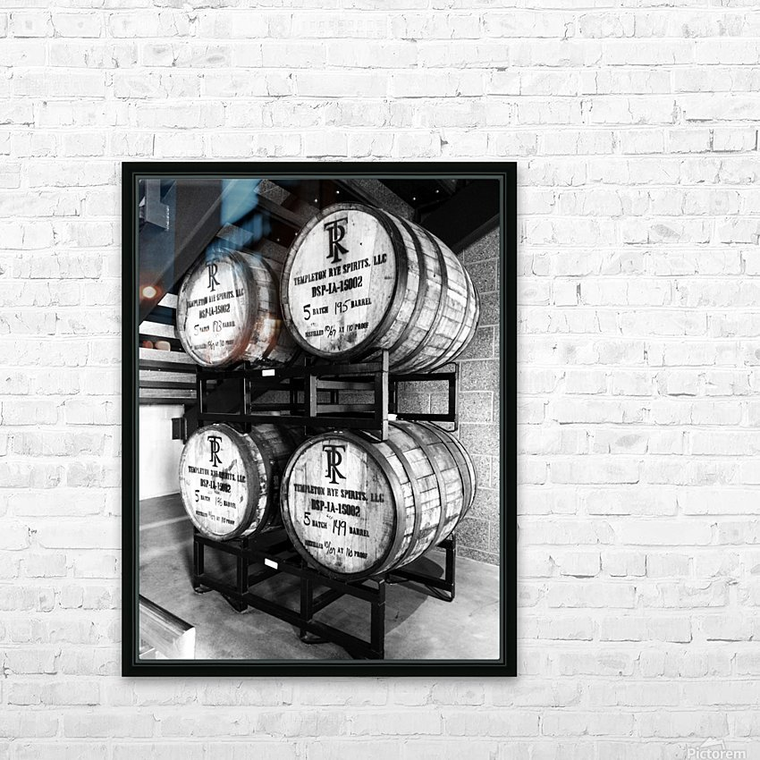Whisky Barrels HD Sublimation Metal print with Decorating Float Frame (BOX)