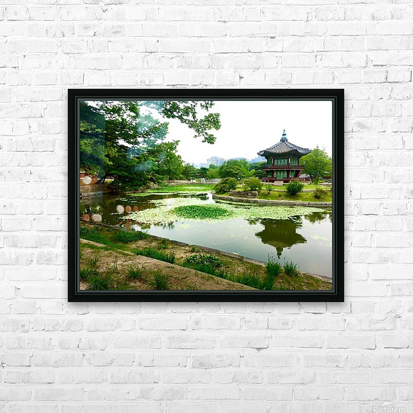 Korean Temple HD Sublimation Metal print with Decorating Float Frame (BOX)