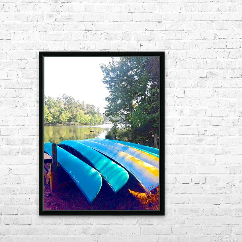 Lake Life HD Sublimation Metal print with Decorating Float Frame (BOX)