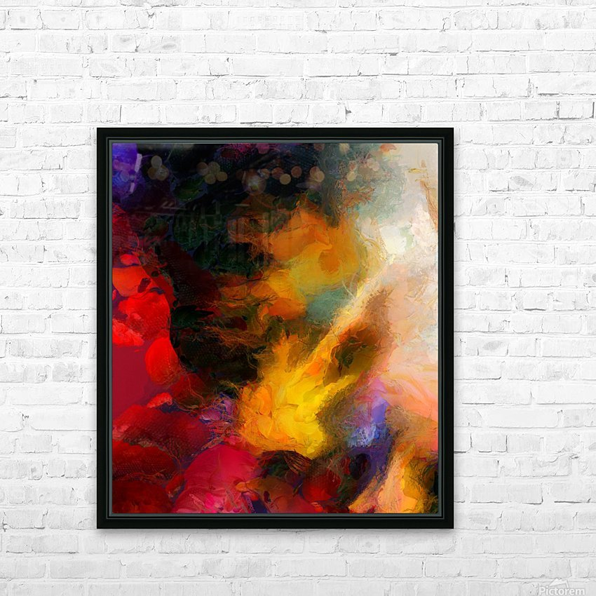 Colorful oil on canvas HD Sublimation Metal print with Decorating Float Frame (BOX)