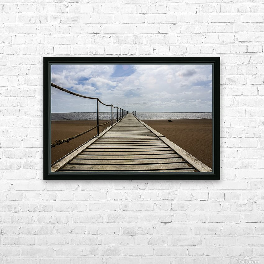 The Jetty HD Sublimation Metal print with Decorating Float Frame (BOX)