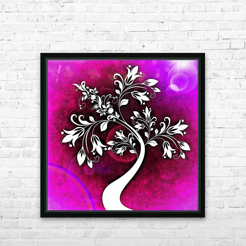 FLOWER TREE 04_OSG HD Sublimation Metal print with Decorating Float Frame (BOX)